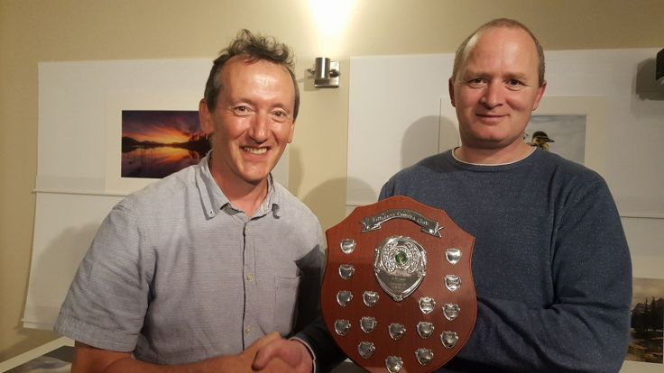 Billy Dermody being presented with our POTY shield